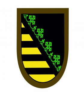 Yellow-green medieval banner