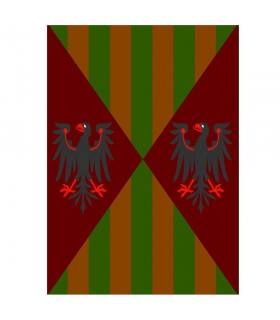Medieval banner eagles and bars, various sizes