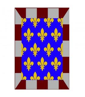 Medieval banner mosaic fleur de lis, various sizes