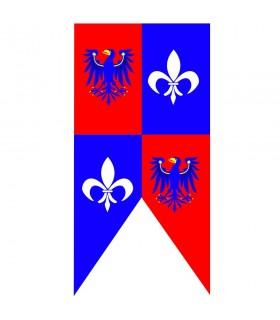 Medieval banner eagles with fleur de lis