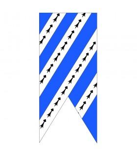 Medieval blue sky-white banner