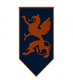 Medieval rampant dragon banner