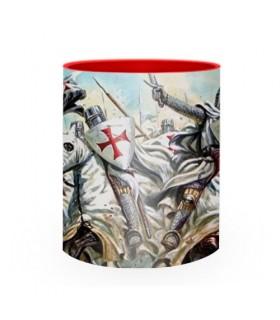 Ceramic Mug fighting Knights Templar