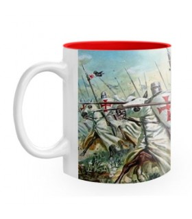 Ceramic Mug fighting Knights Templar
