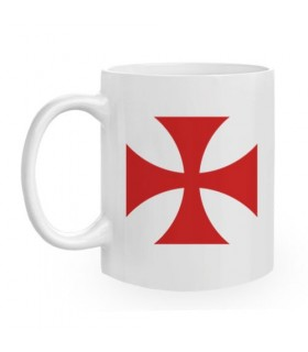 Ceramic Mug Templar Cross