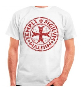 White t-shirt Cross-Legend Templar, short sleeve