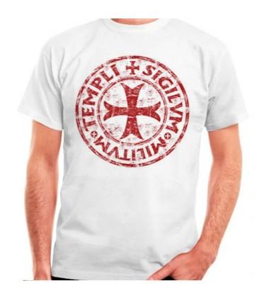 White t-shirt Cross-Legend Templar, short sleeve