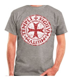 T-shirt Gray Cross-Legend Templars, short sleeve