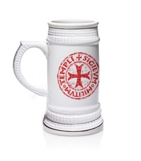 Mug of beer of the Knights Templar