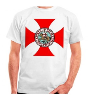 Templar Cross T-shirt with Knights Templar