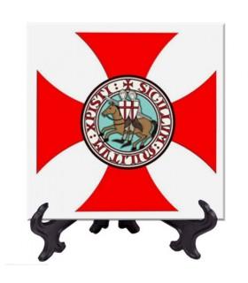 Azulejo Cruz Paté y Caballeros Templarios