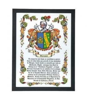 Box heraldic coat of arms 1 last name (32,5x42,5 cm.)