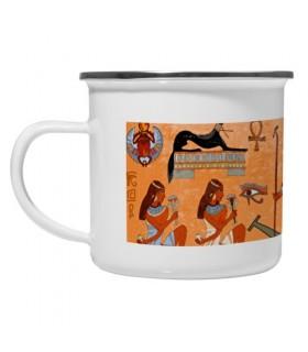 Taza latón esmaltado Vintage Egipcios