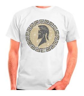 Spartan white t-shirt, short sleeve