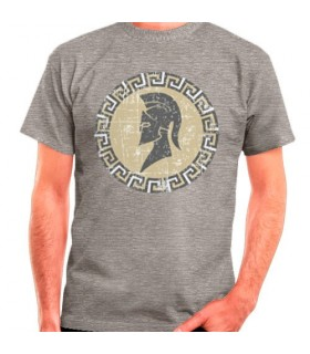 Spartan gray t-shirt, short sleeve