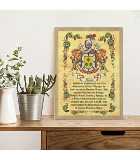 Box heraldic shields 1 last name (30x40 cms.)