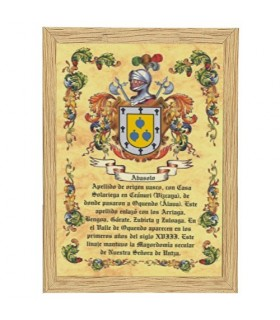 Tile framed Heraldic Coat of arms 1 Last name (22,4 x 32,4 cm.)