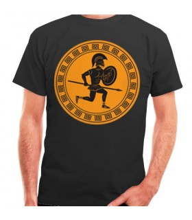 Greek Fighting T-shirt with Shield and Spear