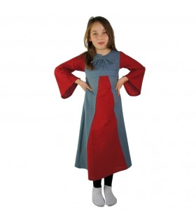 Dress medieval two-tone for girls