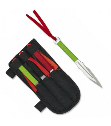 Set 3 Knives Launchers Stainless Steel