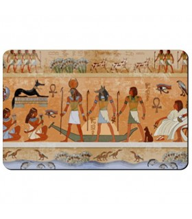 Flexible magnet rectangular Icons with Egyptians