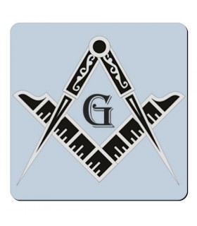 Magnet Square and Compass Freemasons (7,4 x 7,4 cm.)