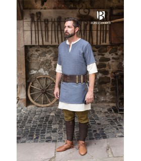 Tunic Medieval Aegir Blue-Gray short sleeve