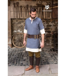 Tunic Medieval Blue-Gray short sleeve