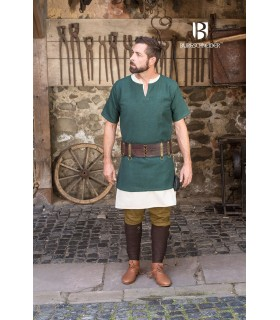 Tunic Medieval Aegir green short sleeve