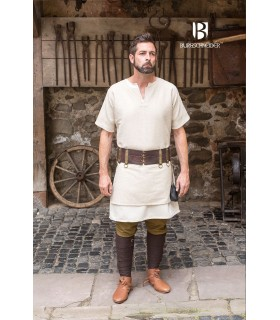 Tunic Medieval Aegir cream short sleeve