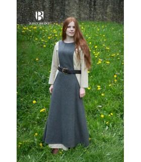Tunic Medieval Woman Albrun in Gray Wool
