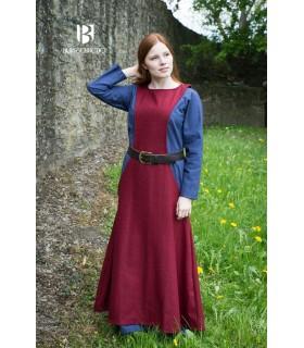 Tunic Medieval Woman Albrun in Red Wool