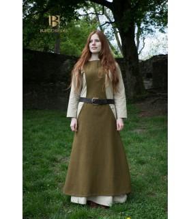 Tunic Medieval Woman Albrun Wool Green