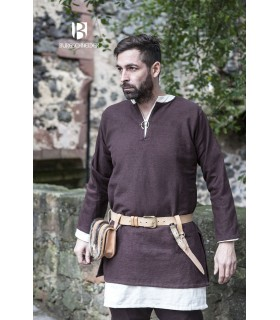 Tunic Medieval Erik brown long sleeve