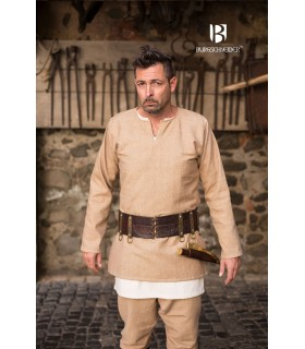 Tunic Medieval Erik cream long sleeve