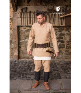 Tunic Medieval Erik cream long sleeve