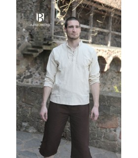 Shirt medieval ties, Tristan, cream