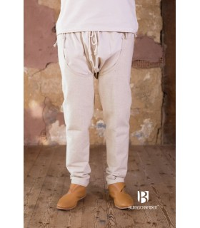 Pants medieval Brandolf, cream