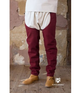 Legs wool Bernulf, bordeaux