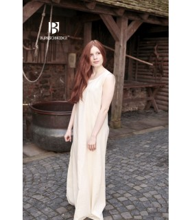 Tunic medieval sleeveless Aveline, cream