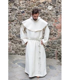 Medieval monk costume Benediktus, white