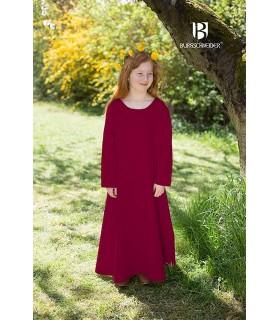 Tunic medieval for girls, Ylvi bordeaux