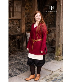 Tunic Medieval Hyria Red Wool