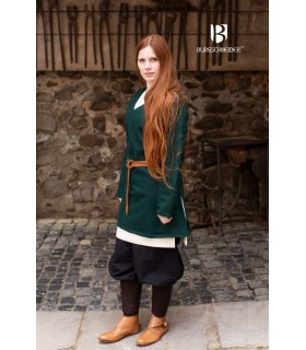 Tunic Medieval Hyria Green Wool