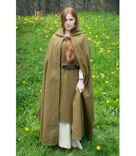 Layer medieval wool Hibernus, mustard