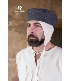 Hat medieval Hugo, grey