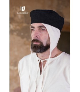 Hat medieval Hugo, black