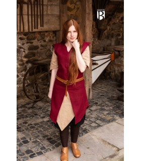 Tunic woman Meril, red wool