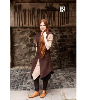 Tunic woman Meril, brown wool