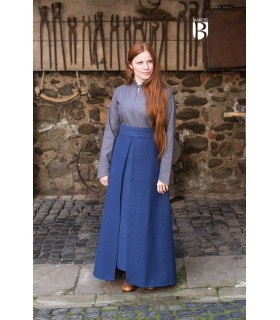 Skirt medieval Mere, cotton blue